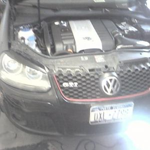 My car being worked on