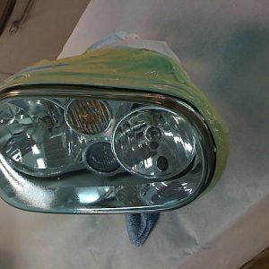 painted the headlight