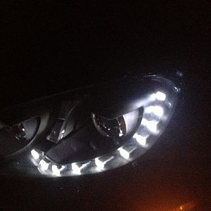 OEM LED HID headlights.