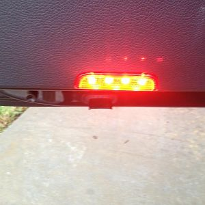 OEM Bold-sport door warning/ puddle light install with LED lights.