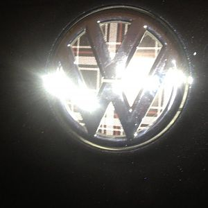 Rear hatch badge.